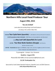 Northern Black Hills Producer Tour