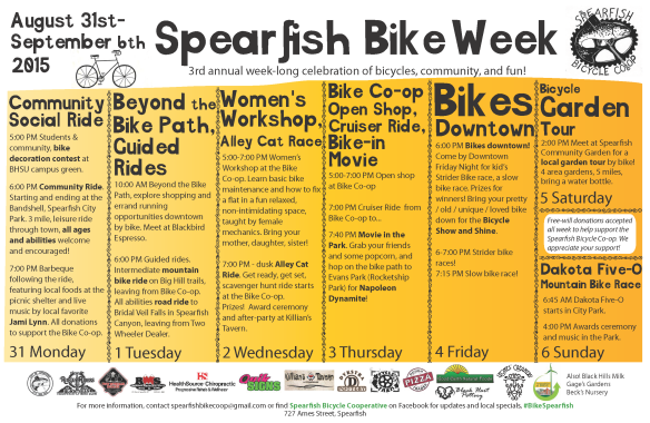 Spearfish Bike Week flier 2015