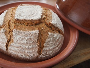 bread in cloche from Dykstra Pottery